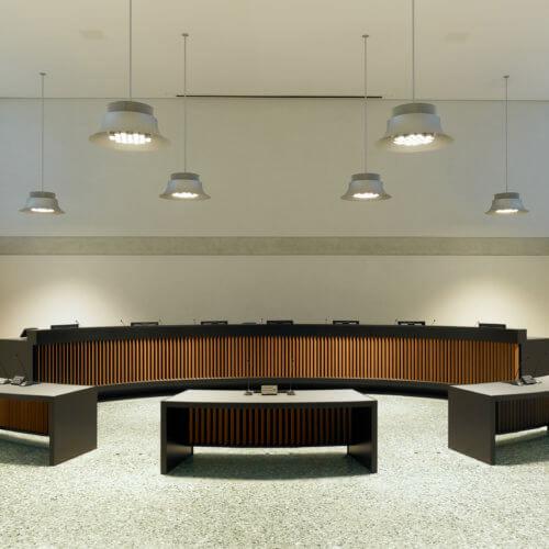 Gerichtssaal im Bundesverwaltungsgericht