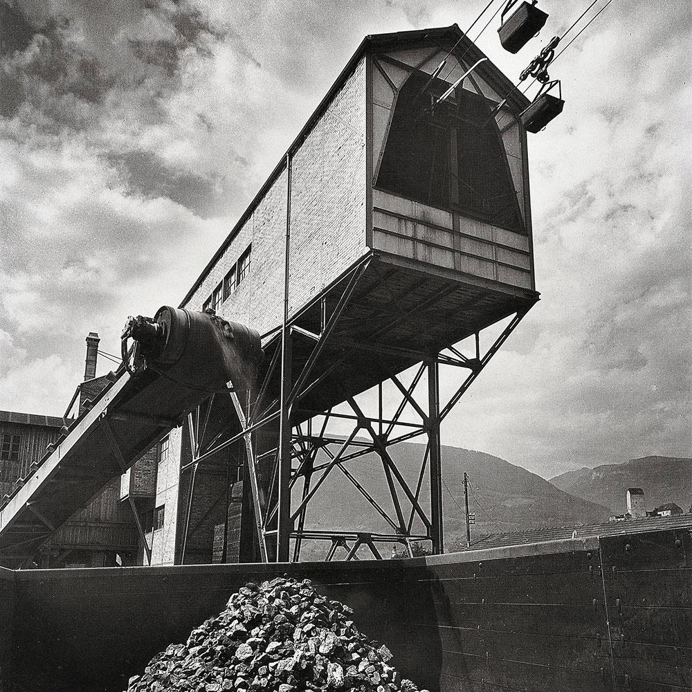 Foto: Eisenbergwerk am Gonzen, Zürich, 1944