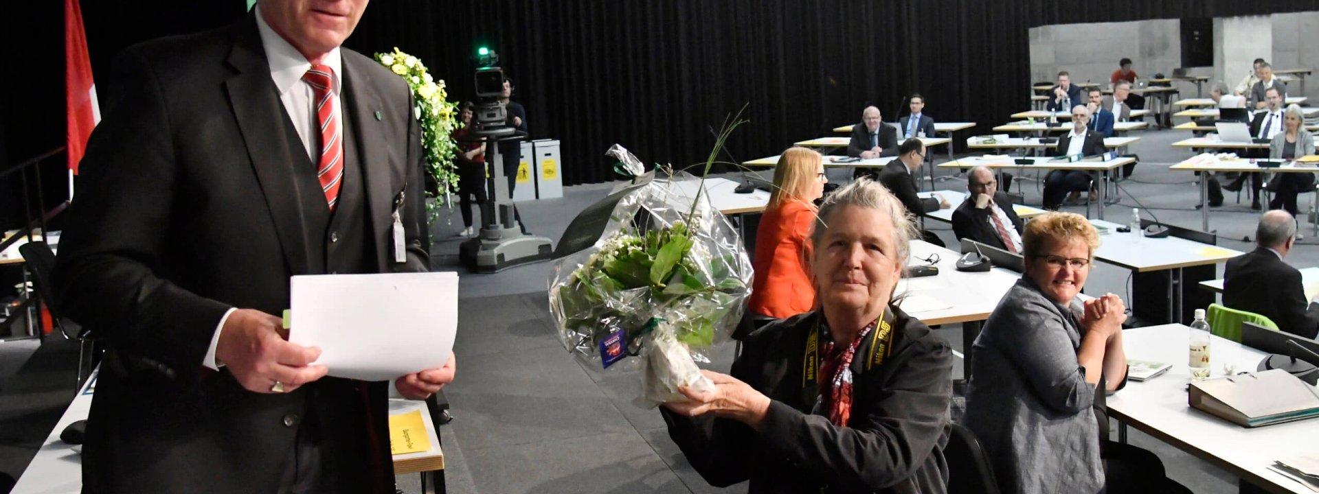 Kantonsratssession  20. Mai 2020  Verabschiedung  Regina Kühne